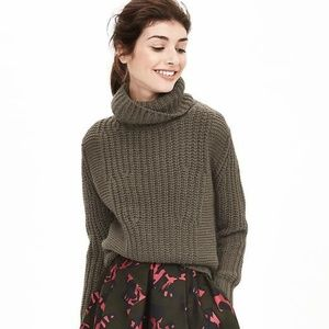 Banana Republic Olive Green Italian Yarn Sweater S